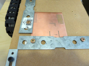 CNC with secured PCB