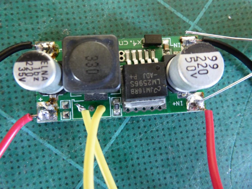 Lipo Battery Charging From A 1w 5v Solar Panel Roger Clark Archive Circuit With Voltmeter Real And Variable Resistor This Wasnt What I Expected To Happen So Looked In The Data Sheet For Lm2596 At Efficiency There Is Graph Of 3a