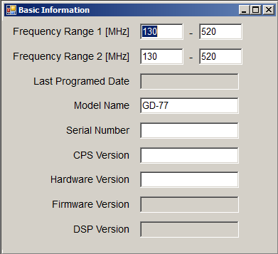 Extending the frequency range of the GD-77