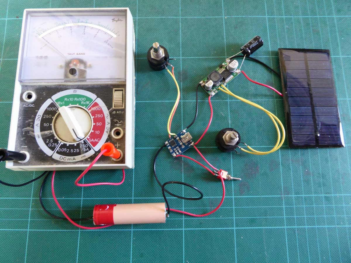 LiPo battery charging from a 1W 5V solar panel | Roger Clark